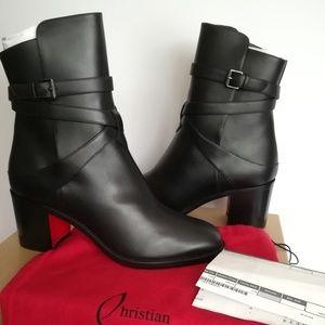 2c4e9c7bb2b CHRISTIAN LOUBOUTIN Karistrap Leather Ankle Boots Boutique